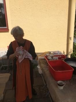 Ann-Marie ombesörjde disken hela dagen