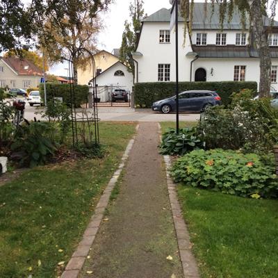 Rosbågen flyttad till ingången vid Bielkegatan